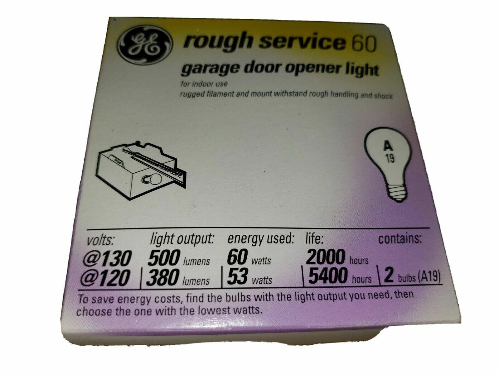 Ge 72528 Rough Service Garage Door Opener Light 2pk Free Shipping For Sale Online