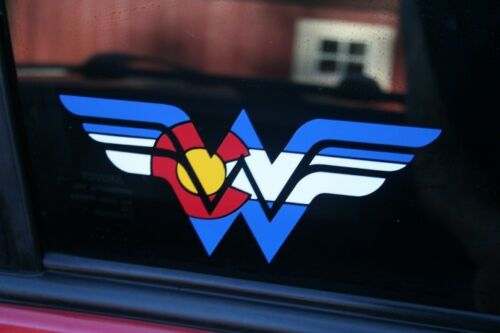 Colorado State Flag Wonder Woman Die-Cut Sticker