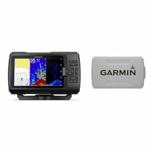 Garmin STRIKER Plus 7cv Fishfinder with GT20-TM Transducer and Protective Cover