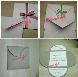 Bomboniere Matrimonio Personalizzate.Partecipazioni Nozze Matrimonio Personalizzate Busta E Biglietti