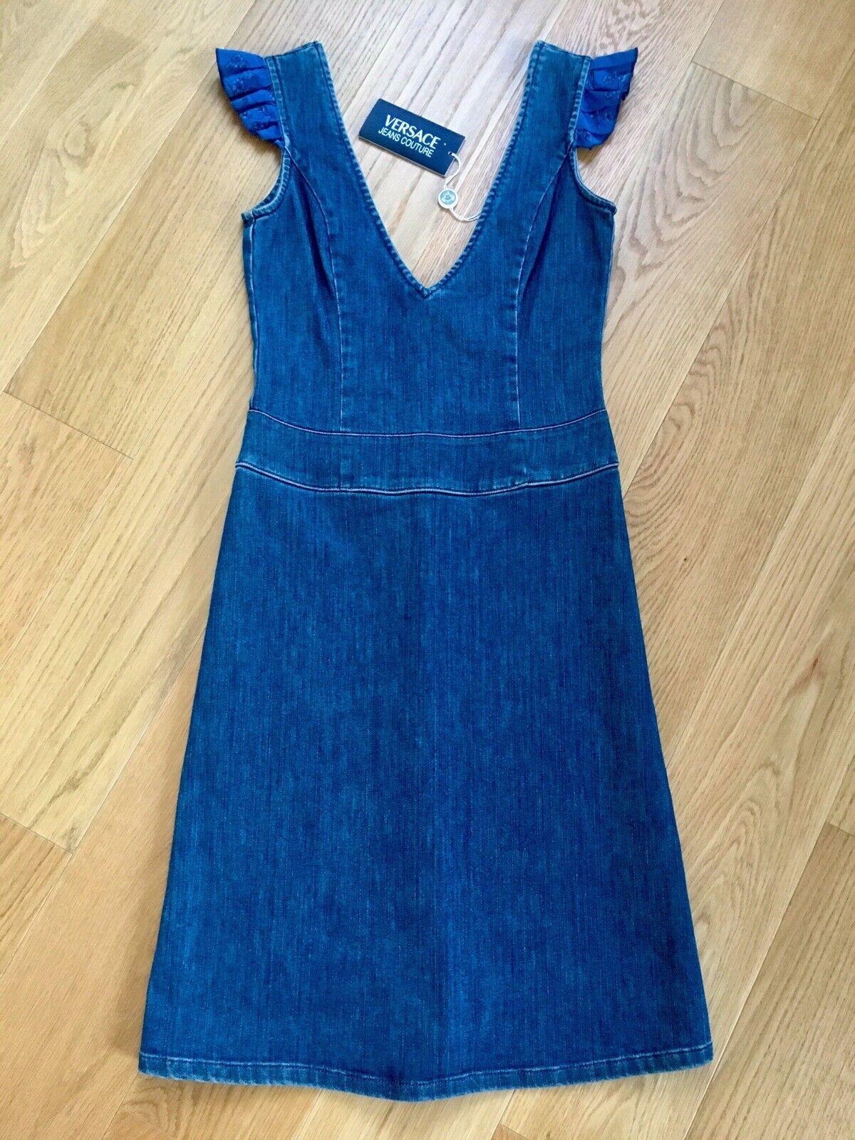 NEU Versace Jeanskleid Kleid stretch Gr. 36 S NP€195,-