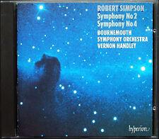 Vernon HANDLEY: Robert SIMPSON Symphony No.2 & 4 HYPERION CD Sinfonien
