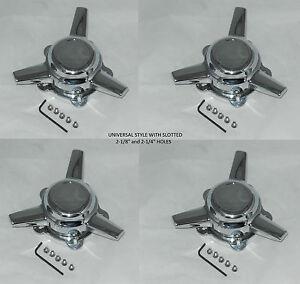 "Torque Bar Spinner >> 4 AMERICAN RACING 2-1/4"" or 2-1/8"" SPACING SPINNER TRIBAR WHEEL RIM CENTER CAPS | eBay"