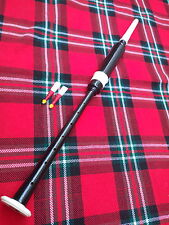 T C BAGPIPE PRACTICE CHANTER ROSEWOOD BLACK COLOR IMMATION IVORY AMOUNT 2 REEDS