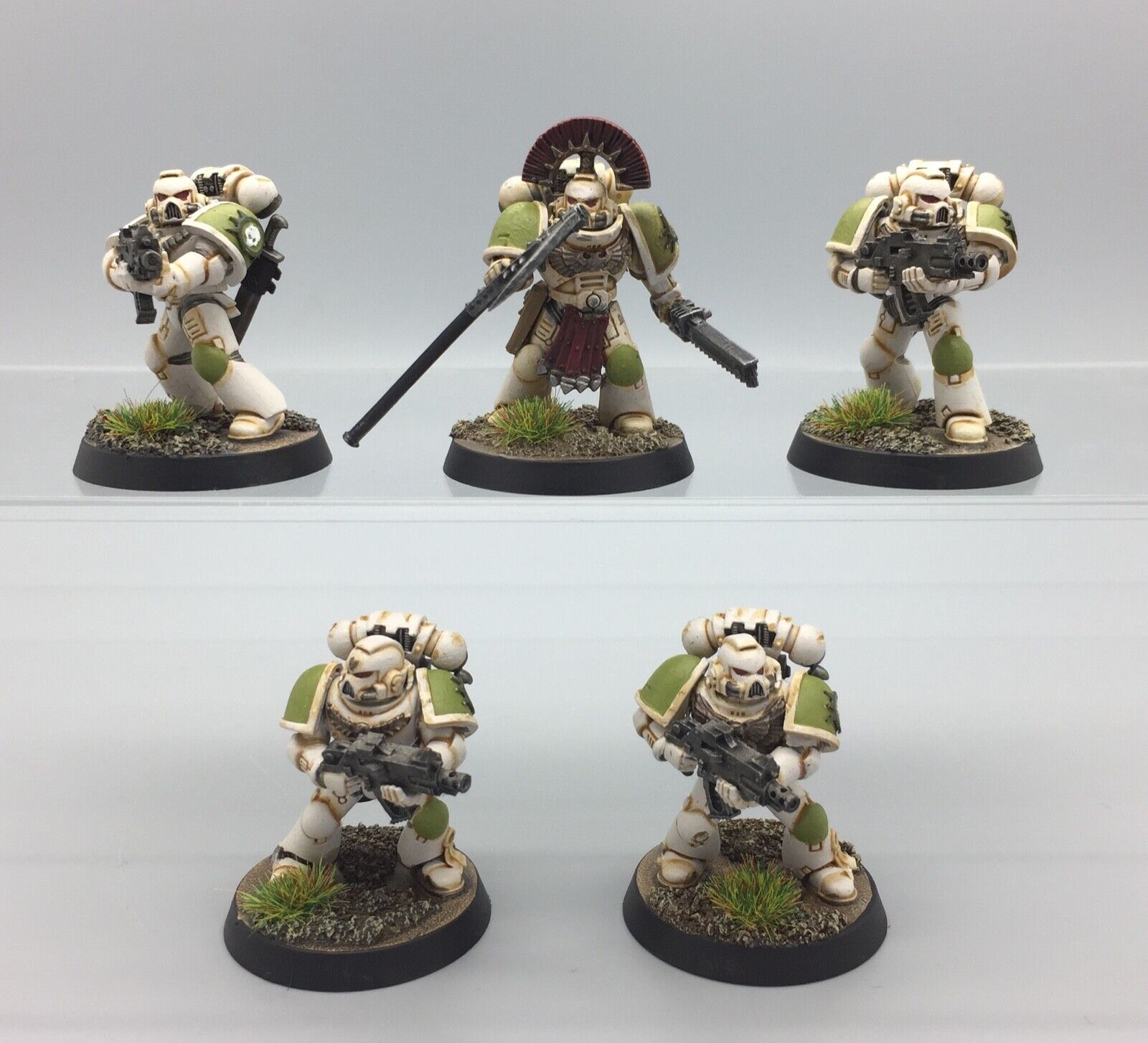 CHAOS SPACE MARINES PRE HERESY NURGLE DEATH GUARD KILL TEAM FORGE WORLD PAINTED