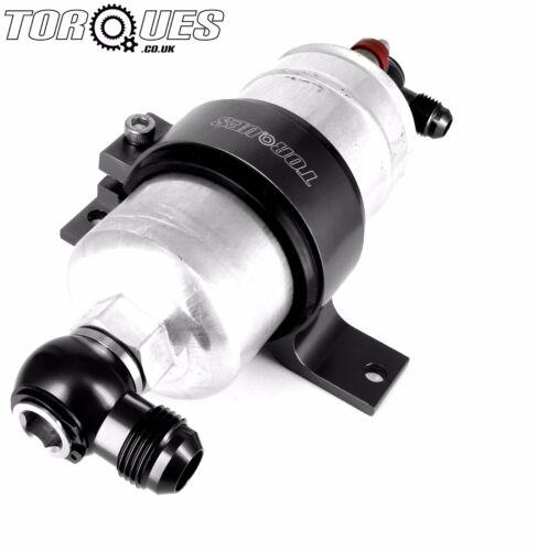 8AN Bosch 044 Fuel Pump Inlet M18x1.5 Banjo Swivel Adapter Assembly BLACK AN-8