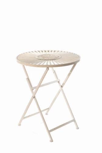Tavolo da giardino in ferro lavorato bianco shabby chic tavolino da caffè Nuovo