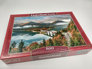 Puzzle-500-pieces-lac-sylvenstein-47x33cm-de-marque-Castorland-neuf