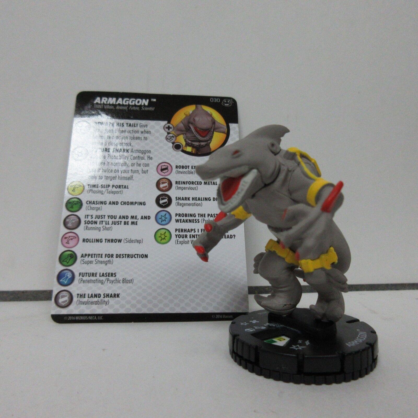 TMNT HeroClix Armaggon 030 SR Figure w  Card A03