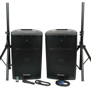 BLASTKING Party Pack BDT15CMB2 15-inch 1000 Watt Active and Passive System w/ Mic and Stands Ontario Preview