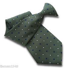 Verde da Uomo Clip Su TIE Clipper con Royal Blu e Bianco MODELLO A ROMBO
