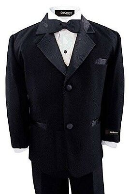 NWT Boys Kids Usher Black Tuxedo Tux Set Size Baby//Teen