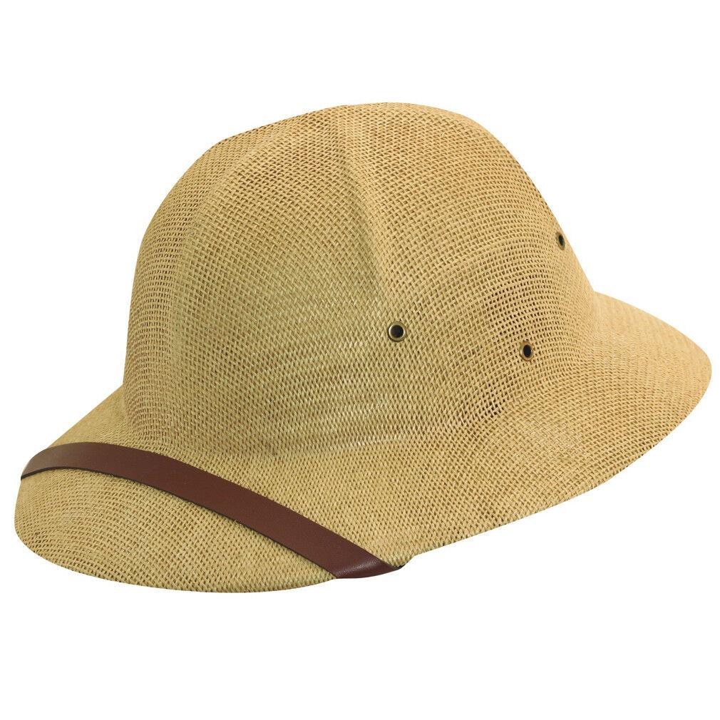 Adults Straw Cap Safari Jungle Hunter Explorer Pith Props Helmet Hat Film Play Props Pith 82d6cb