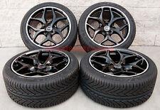 "20"" BMW X5 X6 Staggered Avus AC-MB2 Wheels Black Machine Lip Delinte Tires Rims"