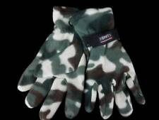 NWT Insulated Camo Polar Fleece Gloves Mens One Size Green Brown Insulated