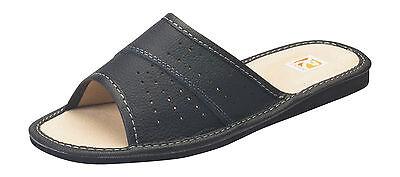 Nueva camiseta para mujer Zapatillas de casa de cuero genuino mocasines tamaño de Reino Unido 4 - 7.5