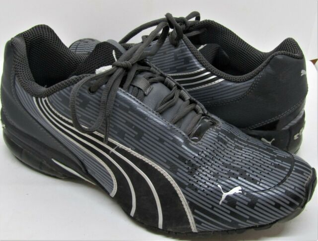 PUMA Men's Cell Kilter Size 9.5 Athletic Running Sneakers Shoes Black and grey.