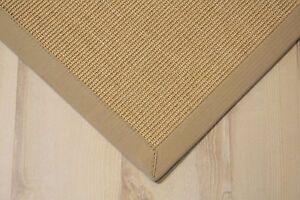 sisal teppich manaus mit bord re natur 140x200 cm 100 sisal ebay. Black Bedroom Furniture Sets. Home Design Ideas