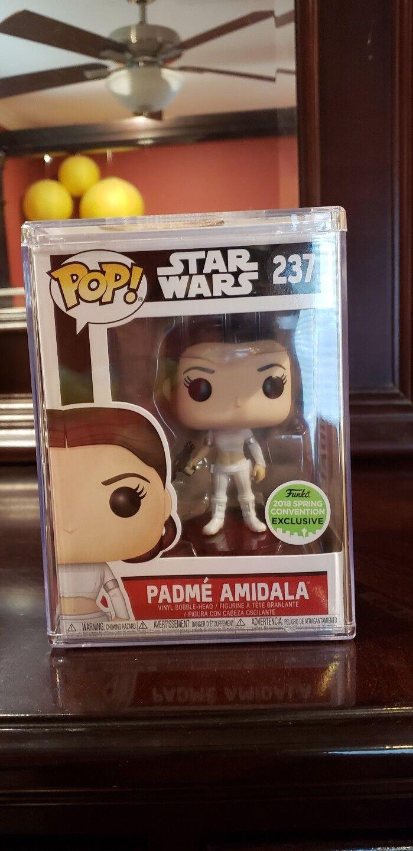 Funko Pop  Star Wars Padme Amidala 2018 convention Exclusive premium predector