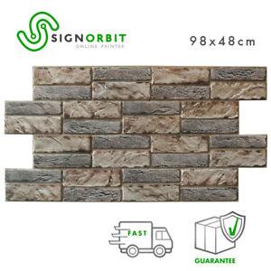 Pannello finto mattone pvc finta pietra 3d 98x48cm kit di for Pannelli finta pietra ikea