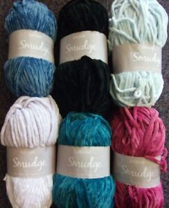 5-x-100g-Sirdar-Smudge-Soft-Chenille-Chunky-Wool-Yarn-for-Knitting-Crochet