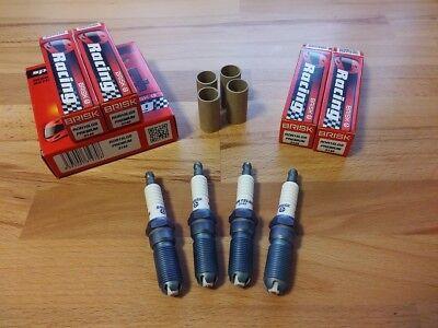 4x Ford Puma 1.7i 16v ST160 y1999-2002 = Brisk YS Silver Electrode Spark Plugs