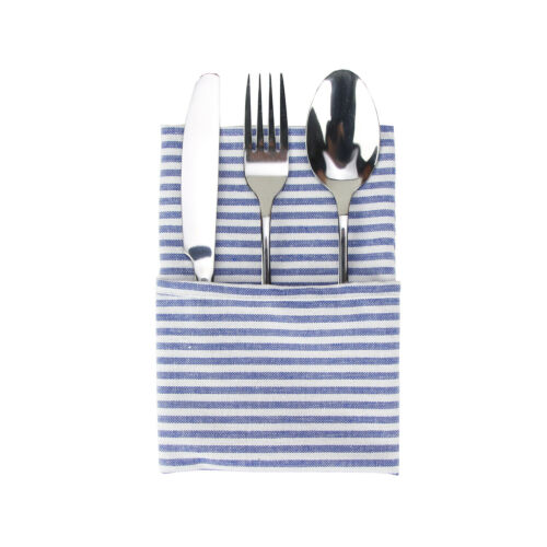 Set of 12 Soft Plain Striped Linen Cotton Dinner Cloth Napkins 40 x 30 cm