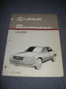 1992 lexus ls400 electrical wiring diagram service manual ebay. Black Bedroom Furniture Sets. Home Design Ideas