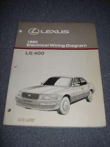 1992    LEXUS       LS400       Electrical    Wiring    Diagram    Service Manual   eBay