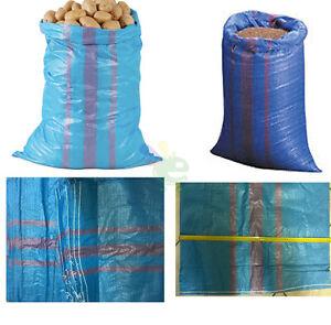 Nr-10-Sacks-Sacconi-for-Agriculture-Gardening-Polyethylene-Lot-70X120-Blue