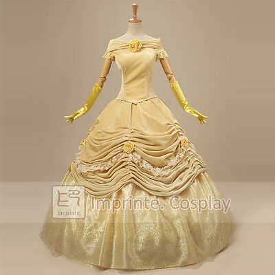 New Style Princess Belle Dress Luxurious Adult Costumes Cosplay Beauty Beast
