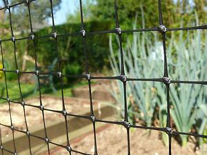 Black Garden Fence Plastic Mesh 1x100m Pet Barrier Flower Bed Plant