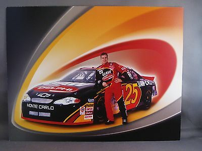 "2001 JERRY NADEAU /""UAW-DELPHI HENDRICK/"" #25 NASCAR WINSTON CUP SERIES POSTCARD"