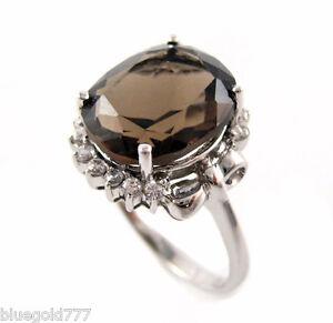 925-Sterling-Silver-Smoky-Quartz-Gemstone-Ring