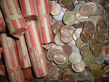 (SSYYO)  One Roll Canadian Copper Pennies (Getting RARE)86 &---