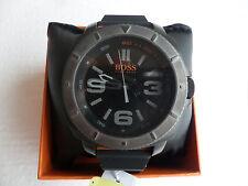Men's Black Hugo Boss Sao Paulo Silicone Strap Watch 1513109