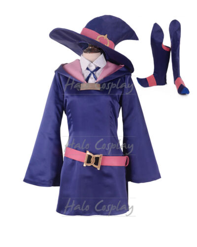 Akko Atsuko Kagari Cosplay Costume from Little Witch Academia Dress Shirt Hat