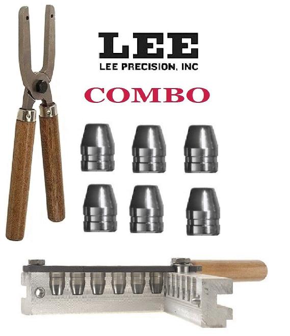Lee 6 Cavity Mold & Mold Handles 45 ACP/ 45 Auto Rim/ 45 Colt (Long Colt)  90289