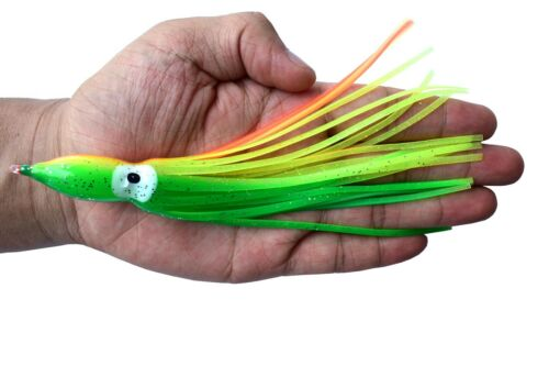 Soft Octopus Squid Skirt Fishing Lure Hoochies Octopus Fishing Lure Bait 18cm GY