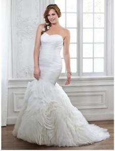 Details about Wedding Dress Plus Size 18 Primrose Maggie Sottero Mermaid  Ivory Strapless NWT
