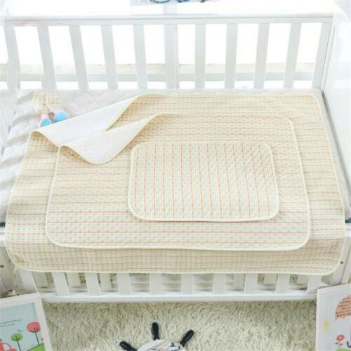 Toddlers Changing Mat Cotton Waterproof Layer Urine Pad Bed Sheets Newborn 6A