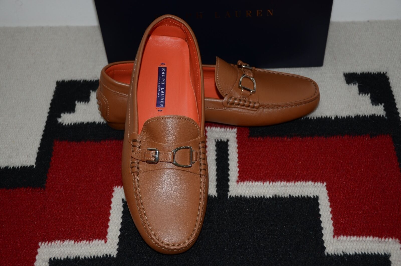 Ralph Lauren Collection Purple Label Leather Driving Loafers Shoes 10 D