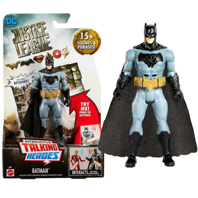 "DC COMICS JUSTICE LEAGUE TALKING HEROES 6/"" ACTION FIGURE BATMAN NEW OTHER"
