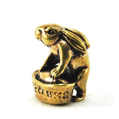 Lucky rabbit bunny sale super climb gold thai miniature figurine mini amulet