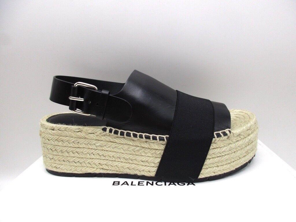 Balenciaga Balenciaga Balenciaga Sandalias Plataformas De Cuña Alpargata Negro 40 10  marcas de moda