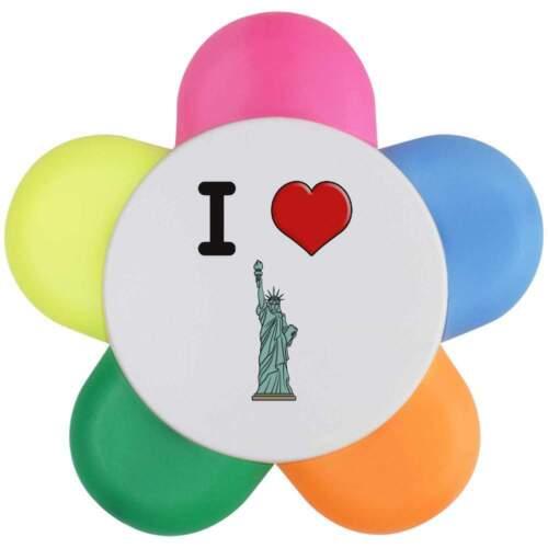 HL00000112 /'I Love New York/' Blumenform-Textmarker-Stift