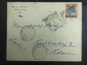 1901 Weltevreden Niederlande Indies Abdeckung Dr Gorodiski zu Österreich Via
