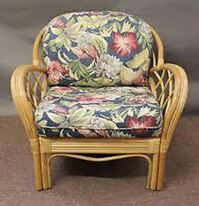 Details About Replacement Cushions For Deep Seating Wicker Rattan Furniture 2 Pc Chair Set