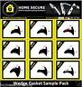 Wedge Gasket - Rubber Door And Window Wedge Seal Black uPVC Gasket Sample Pack