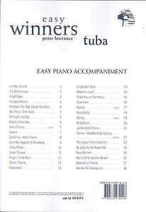 Adroit Easy Winners Lawrance Tuba Bass Clef Piano Accomp-afficher Le Titre D'origine